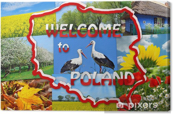 Canvas Welkom in Polen - Europa