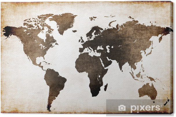 Canvas Wereldkaart oud - Thema's
