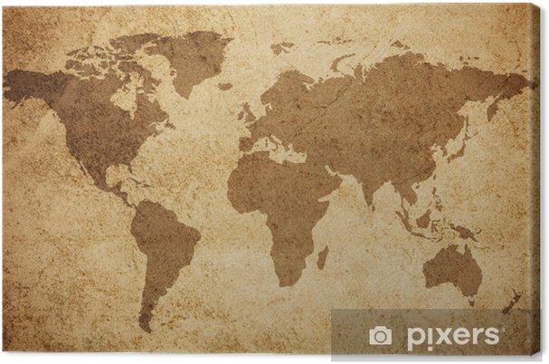 Canvas Wereldkaart textuur achtergrond - Thema's