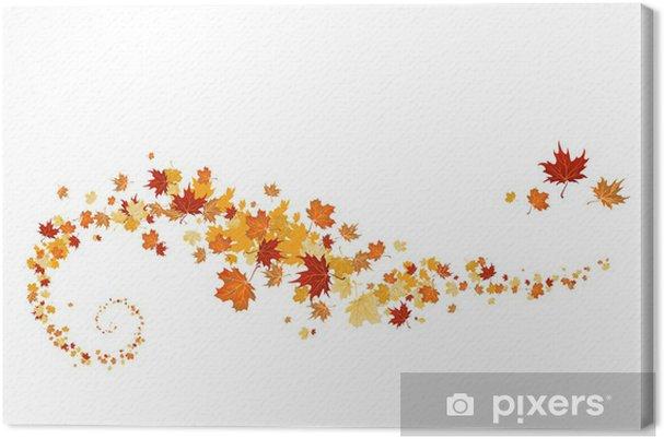 Canvas Werveling van esdoorn bladeren - Seizoenen