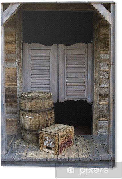 Canvas Western Style Salon met Barrel en Box - Privé Gebouwen