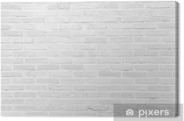 Canvas White grunge bakstenen muur textuur achtergrond - Thema's