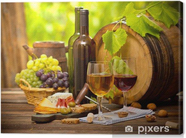 Canvas Wijn en Kaas - Wijn