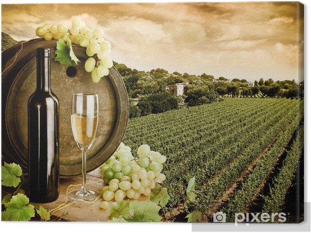 Canvas Wijn en wijngaard in vintage stijl - Thema's