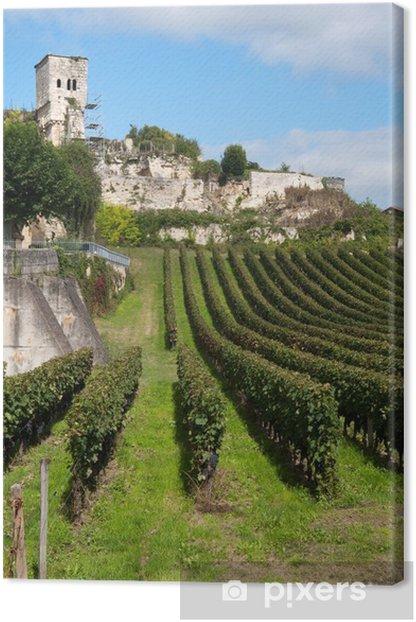 Canvas Wijngaard in Saint-Emilion, Frankrijk - Thema's