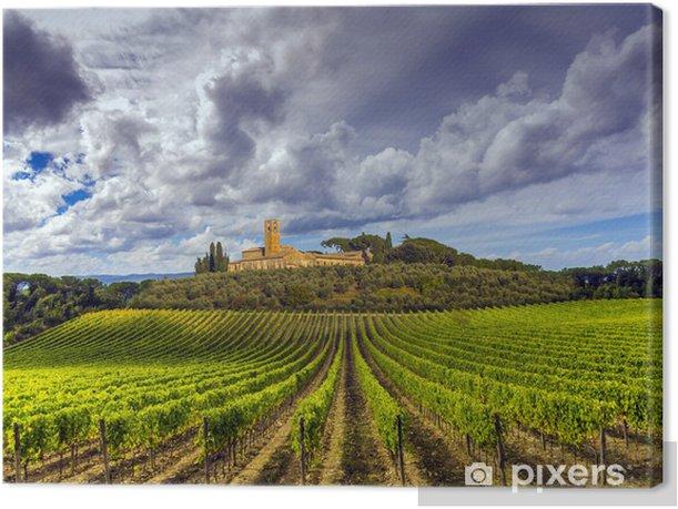 Canvas Wijngaarden in de Chianti regio Toscane, Italië - Thema's