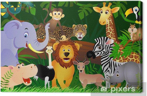 Canvas Wild dier cartoon - Studentenkamer