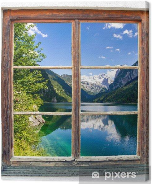 Canvas Window View Pixers We Leven Om Te Veranderen