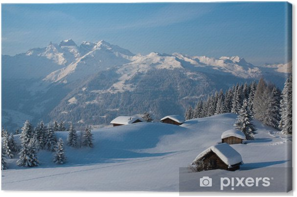 Canvas Winter landschap in de bergen - Winter