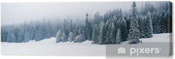 Canvas Winter wit bos met sneeuw, Kerst achtergrond - iStaging