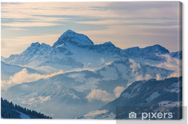 Canvas Winterlandschap - Landschappen