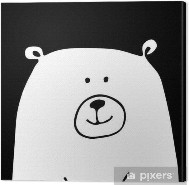 Canvas Wit draag, schets voor uw ontwerp - Dieren
