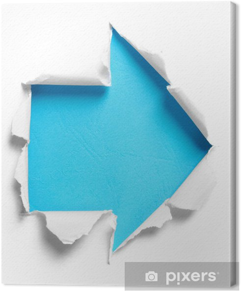 ea19d8578fb Canvas Wit gescheurd papier met pijlvorm