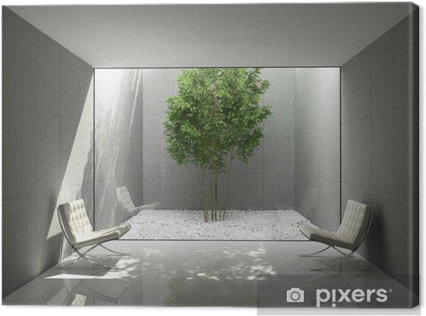 Canvas wit minimalistisch design huis groen lounge atrium u2022 pixers