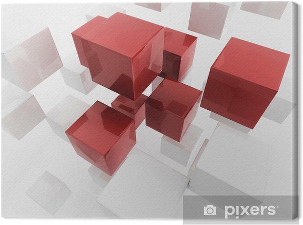 Canvas Witte 3d dozen / cube | Business Concept Wallpaper - Abstract