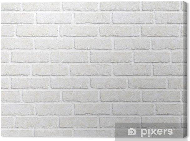 Canvas Witte bakstenen muur achtergrond. - Thema's