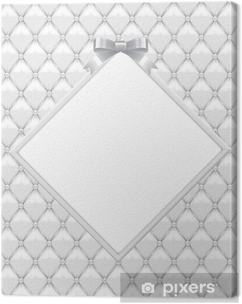 Canvas Witte bekleding met Wedding Aniversary Frame 22 - Viering