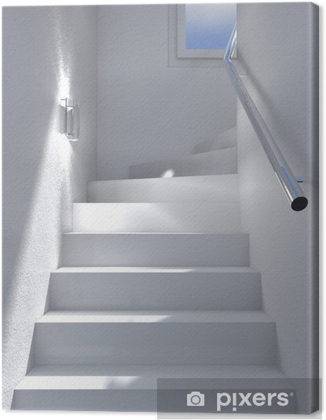 Canvas Witte trap interieur - Thema's