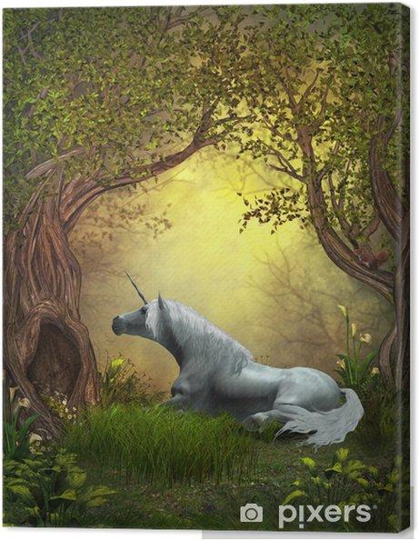 Canvas Woodland Eenhoorn - Thema's