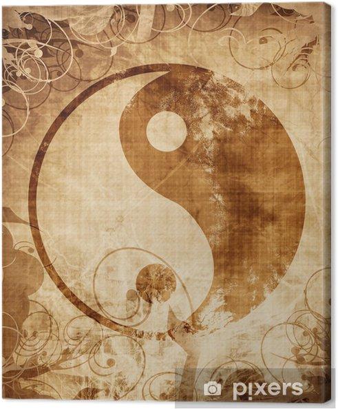 Canvas Yin Yang teken - Tekens en Symbolen