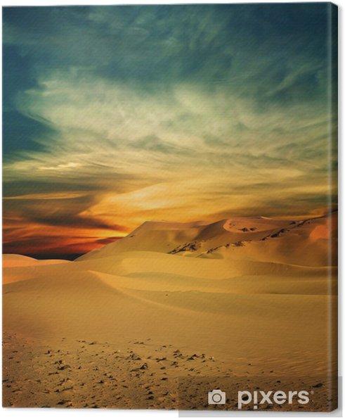 Canvas Zanderige woestijn bij zonsondergang tijd - Thema's