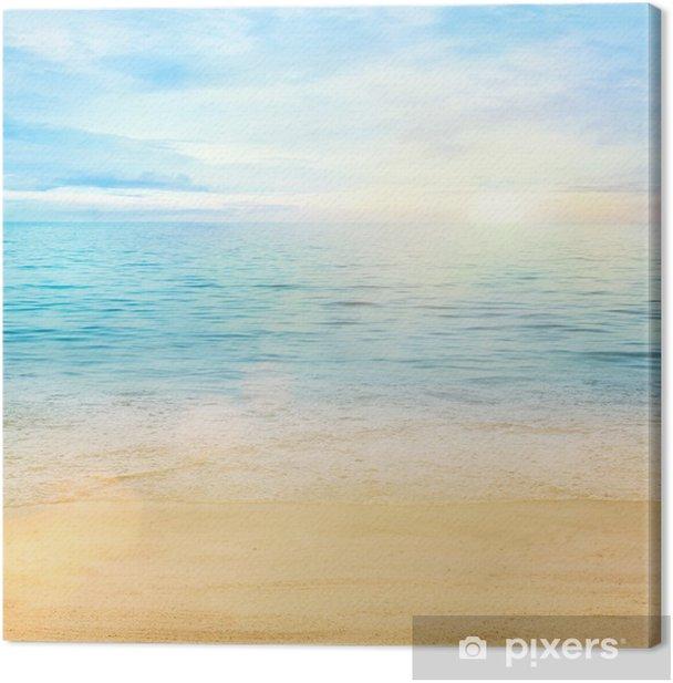Canvas Zee en zand achtergrond - Stijlen