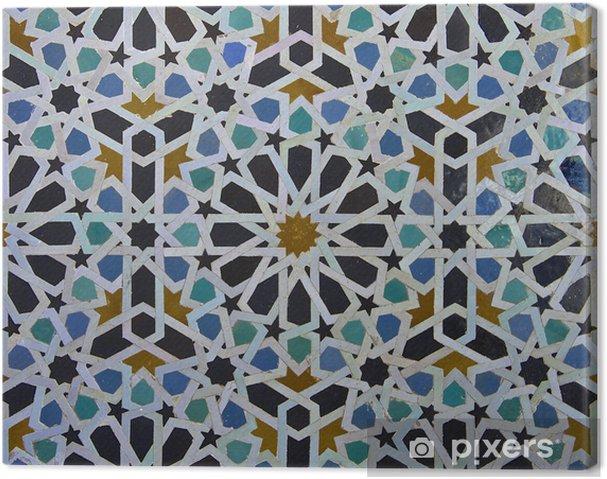 Canvas Zellige Marokkaanse Patroon van de Tegel - Borden