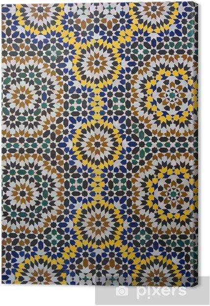 Canvas Zellige Marokkaanse Patroon van de Tegel - Marokko