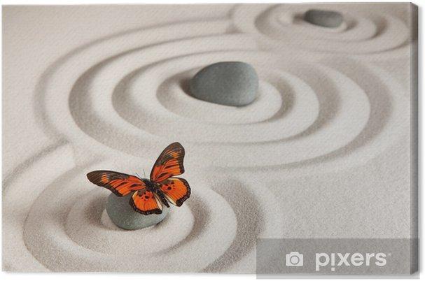 Canvas Zen rotsen met vlinder - Stijlen