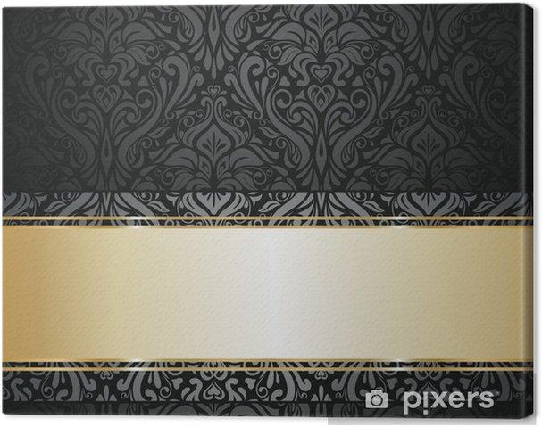 Canvas Zilveren luxe vintage behang - Achtergrond