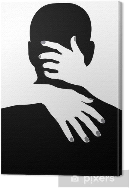 Canvas Zoenen en knuffelen -