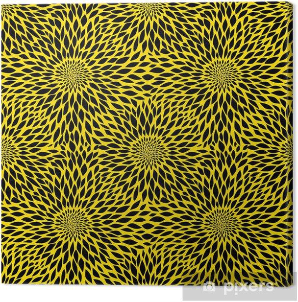 Canvas Zonnebloem naadloos patroon - Texturen