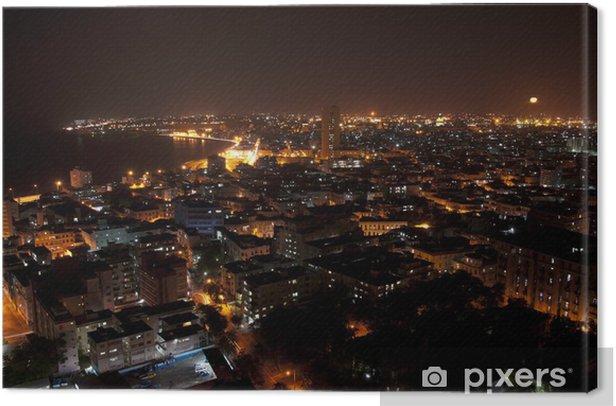 Canvas Zonsondergang boven de Malecon in Havana, Cuba - Thema's