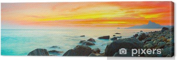 Canvas Zonsondergangpanorama - Thema's