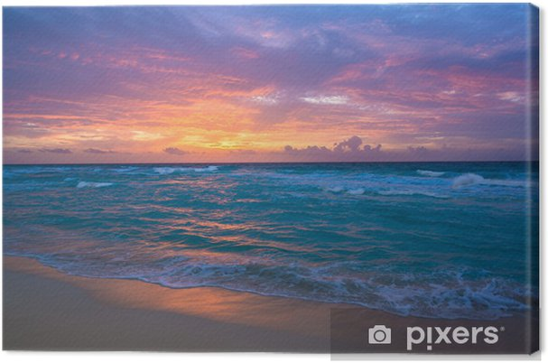 Canvas Zonsopgang in Cancun -