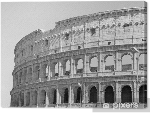 Super Canvas Zwart-wit foto van de grote Colosseum in Rome in retro UK-87