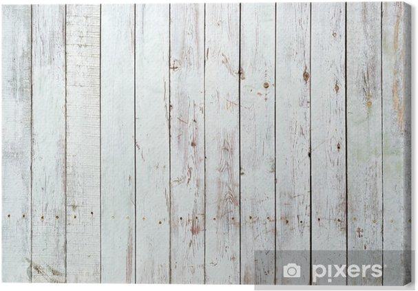 Canvas Zwarte en witte achtergrond van houten plank -