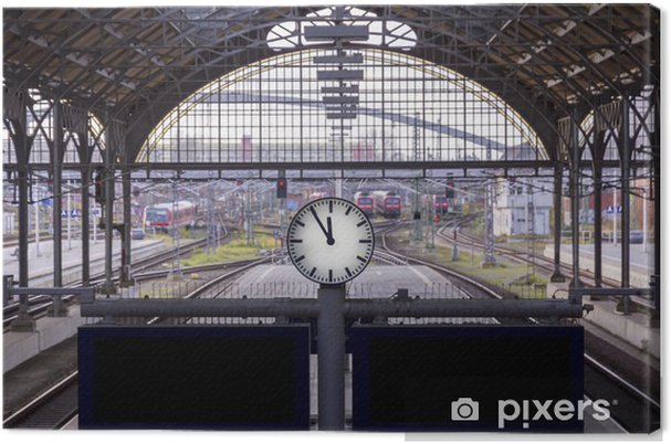 Canvastavla 5 vor 12 precis i tid - Järnvägsstationer och tunnelbana