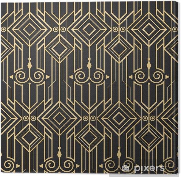 Canvastavla Abstrakt art deco modern sömlös mönster - Grafiska resurser