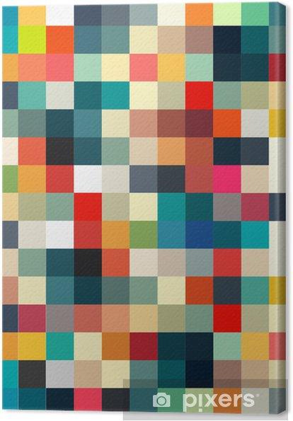 Canvastavla Abstrakt geometriskt retro mönster sömlös för din design - Stilar