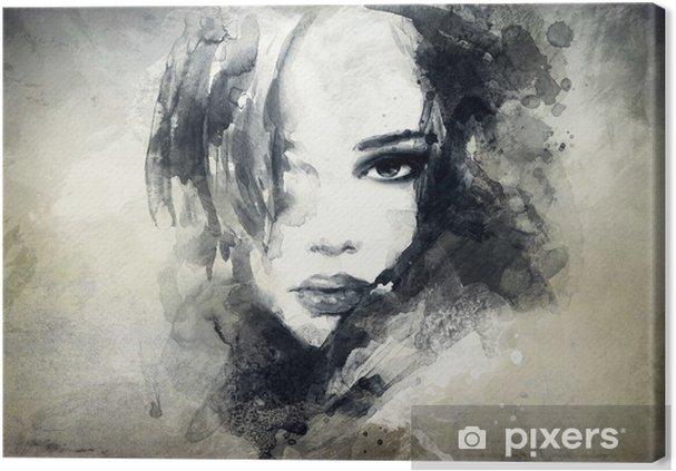 Canvastavla Abstrakt kvinna stående -