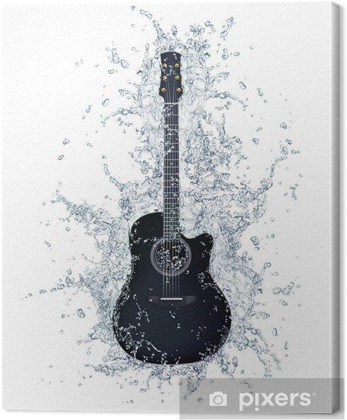 Canvastavla Akustisk gitarr - Teman