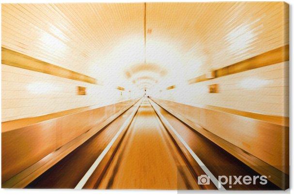 Canvastavla Alter Elbtunnel Hamburg - Tunnel - Teman