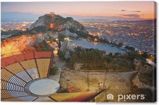 Canvastavla Aten vid solnedgången från Likabetus Hill. - Teman