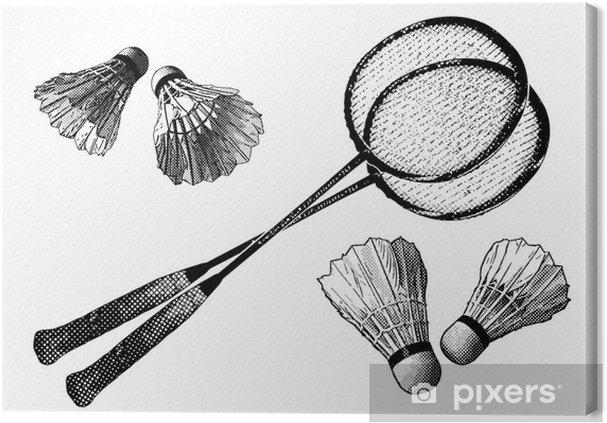 Canvastavla Badminton utrustning • Pixers® - Vi lever för förändring 173aa2074ba48