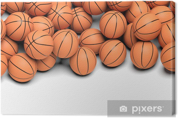 Canvastavla Basket bollar isolerad på vit bakgrund • Pixers® - Vi ... 90760e7107912