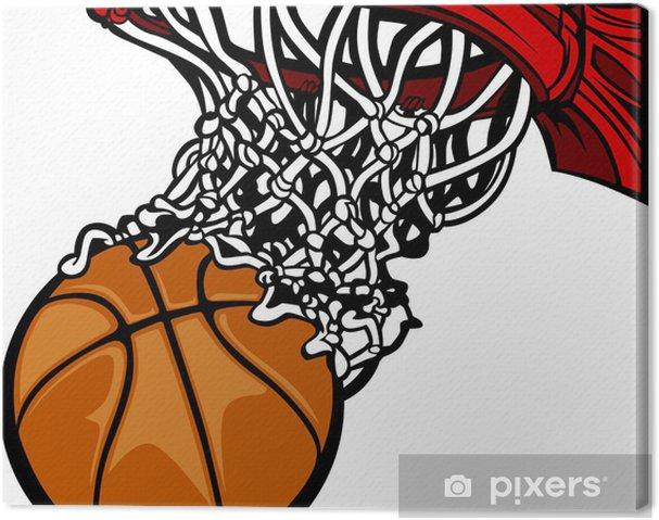 Canvastavla Basketkorg med basket Cartoon • Pixers® - Vi lever för ... fd33832a5209b