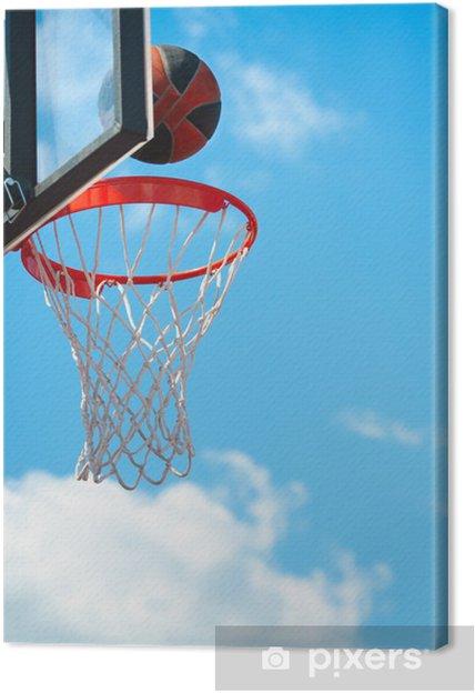 Canvastavla Basketkorg med boll • Pixers® - Vi lever för förändring 844c506d70c6e