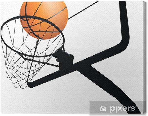 Canvastavla Basketkorg och boll • Pixers® - Vi lever för förändring 5f8dbbafaaaa5