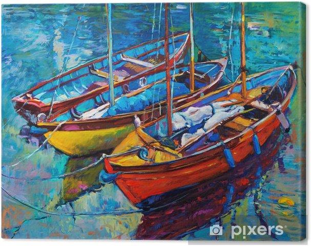 Canvastavla Båtar - Hobby och fritid